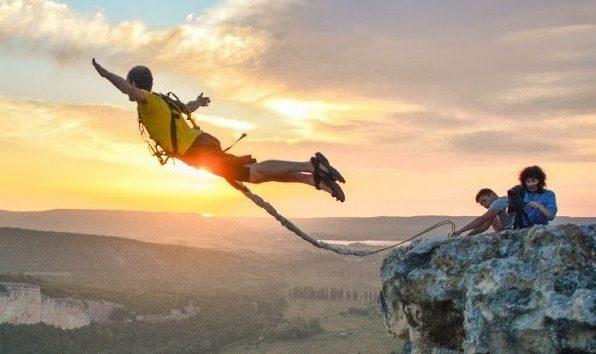 Прыжок с тарзанки фото