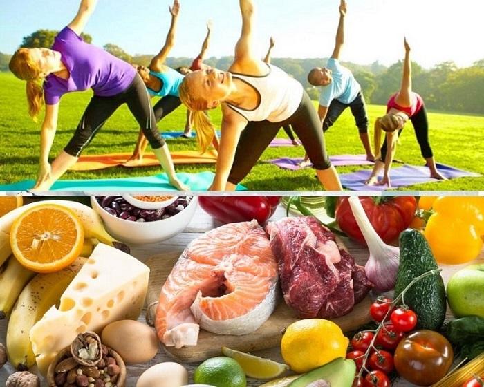 Упражнения и еда