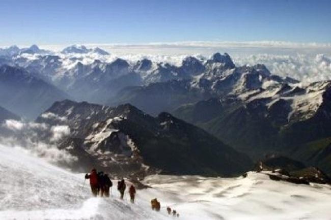 Эльбрус зимой фото