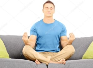 Медитация на диване фото