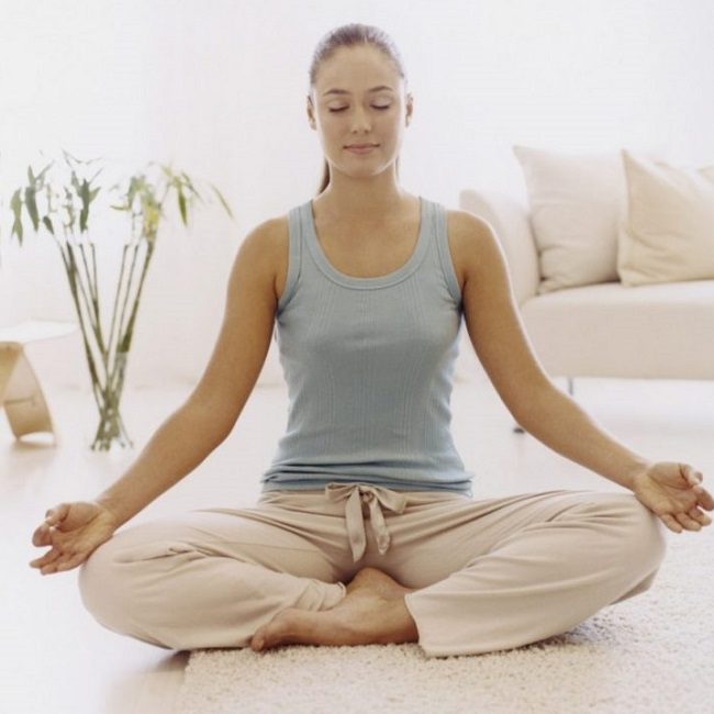 Медитация в позе лотоса