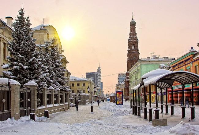 Центр Казани зимой фото