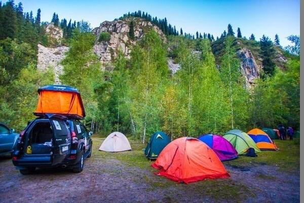 Палатки на Алтае